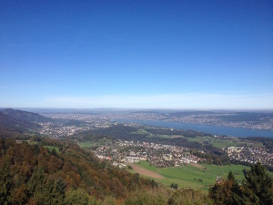 Zurich from the mountains