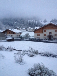 Klosters snow in October