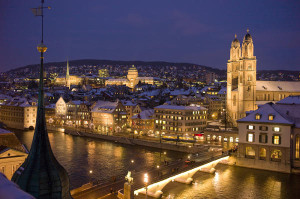 Winter night in Zurich