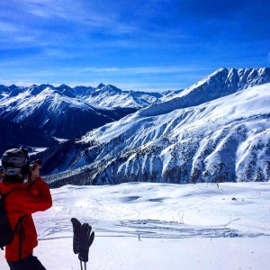 Jenny capturing Klosters
