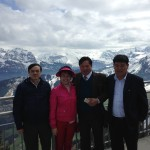 Taking some corporate clients to Mont Stanserhorn on their visit to Zug