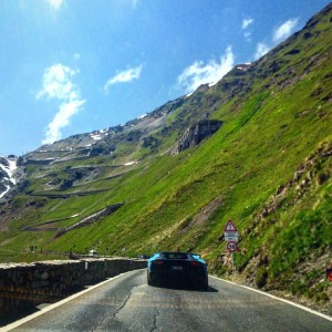 Driving up the Stelvio Pass