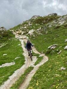 Mountain biking in the Swiss Alps